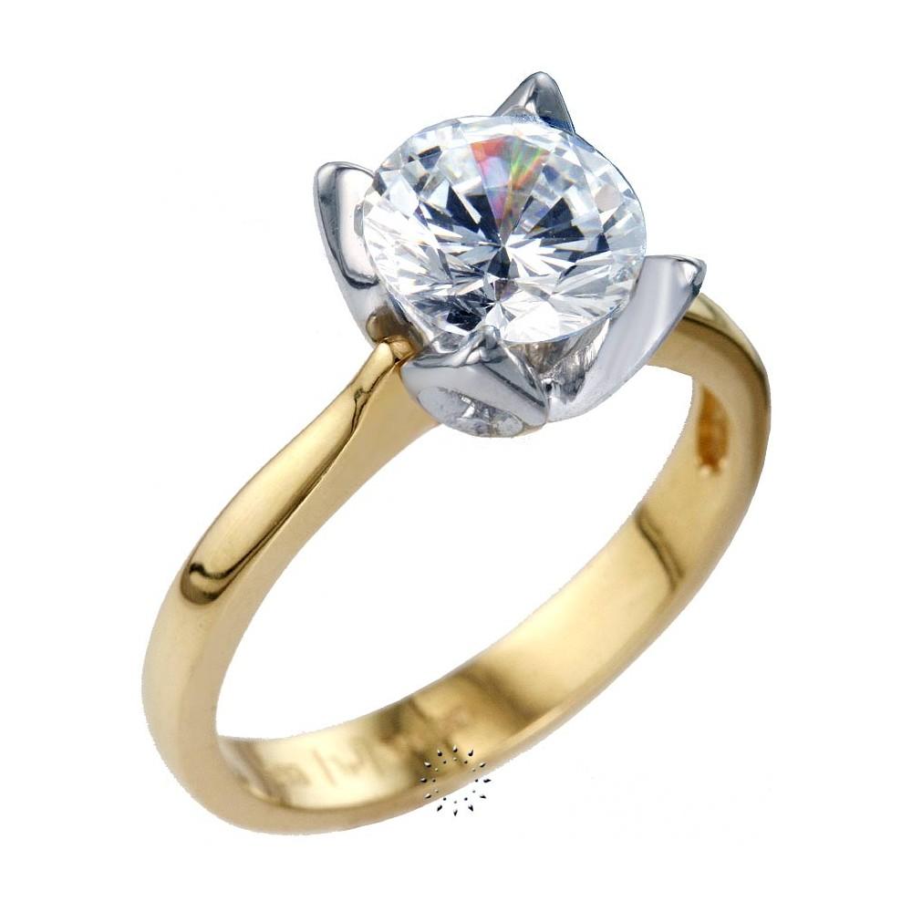 Ρολόι Μονόπετρο δαχτυλίδι 14 καράτια Λευκόχρυσο και Χρυσό ... 777ce652bab