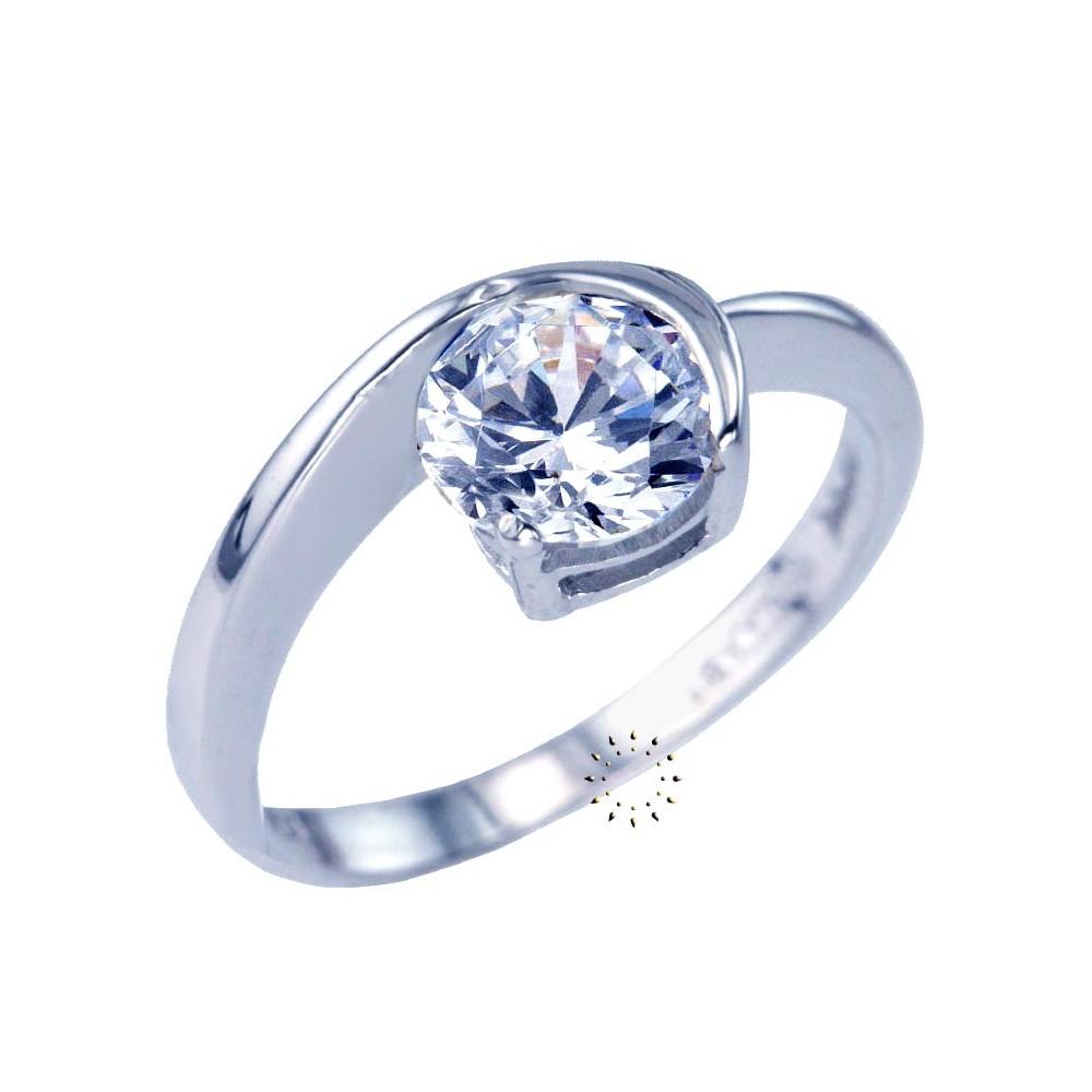 Ρολόι Ring 14ct Whitegold with Zircon SAVVIDIS - 184DA173L - OROLOI.gr 46870d9d35e