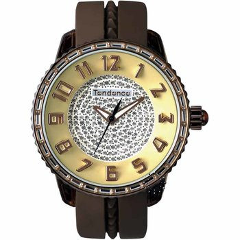 TENDENCE Gulliver Medium Brown Rubber Strap