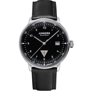 JUNKERS Bauhaus Black Leather Strap