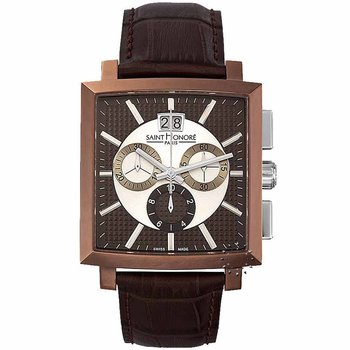 Saint HONORE Orsay Chronograph Brown Leather Strap