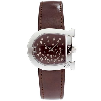 AIGNER Ladies Brown Leather Strap