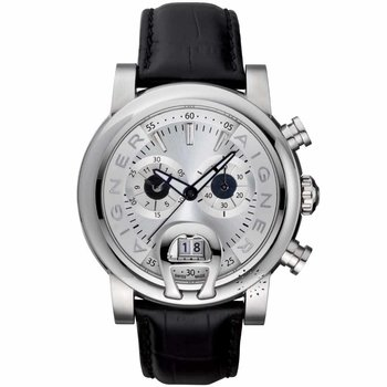 AIGNER Bari Chronograph Black Leather Strap