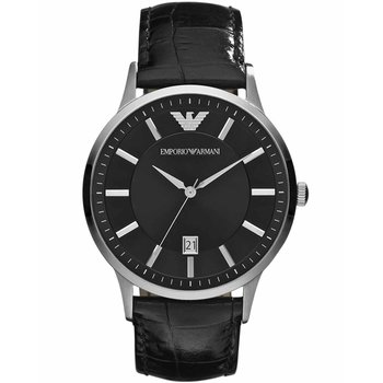 Emporio ARMANI Black Leather