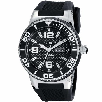 JET SET WB30 Black Rubber Strap