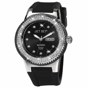 JET SET WB30 Crystal Black Rubber Strap