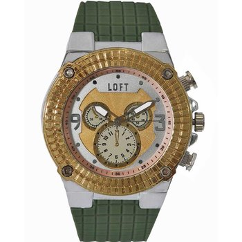 LOFT Men Green Rubber Strap