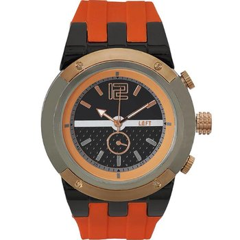 LOFT Men Orange Rubber Strap