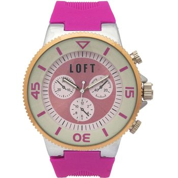LOFT Ladies Fucshia Rubber Strap