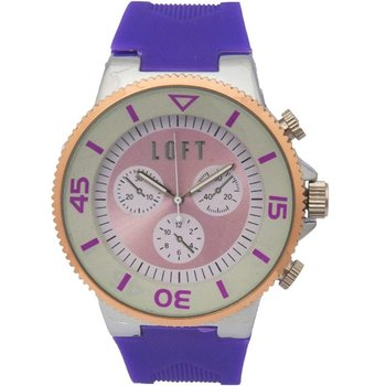 LOFT Ladies Purple Rubber Strap