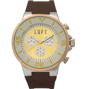LOFT Brown Rubber Strap