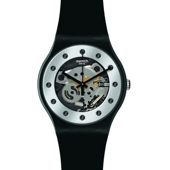 Swatch Silver Glam Black