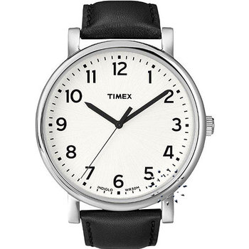 TIMEX Black Leather Strap