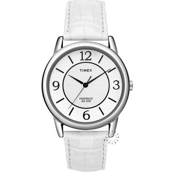 TIMEX Ladies White Leather