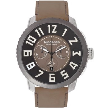 TENDENCE Swiss Made Brown Leather Strap