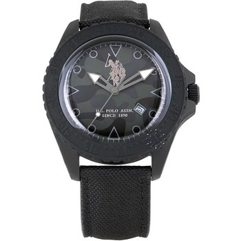 U.S. POLO Black Leather and