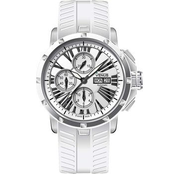 VENUS Automatic Chronograph White Rubber strap