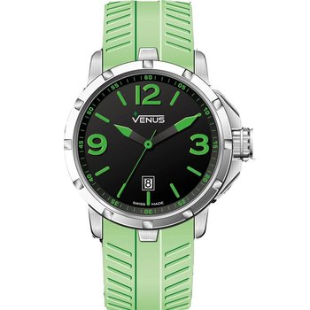VENUS Chroma Ladies Green Rubber Strap