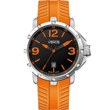 VENUS Chroma Ladies Orange Rubber Strap