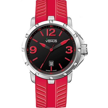 VENUS Chroma Ladies Red Rubber Strap