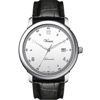 VENUS Classico Black Leather Strap