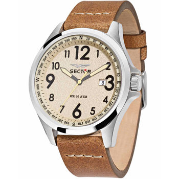 SECTOR 180 Brown Leather Strap
