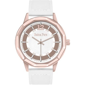 REINA FERE White Leather Strap