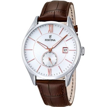 FESTINA Mens Brown Leather