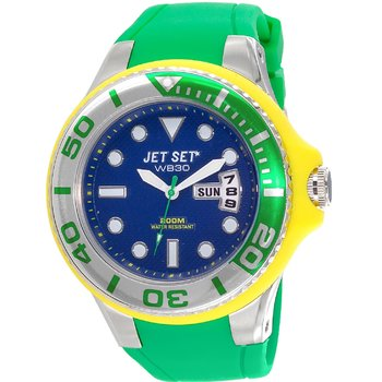 JET SET WB30 Divers Green Rubber Strap