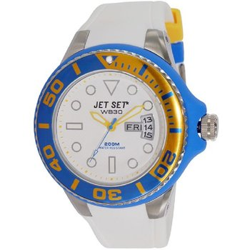 JET SET WB30 Divers White Rubber Strap