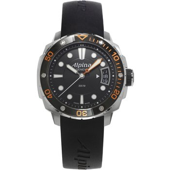 ALPINA Adventure Divers Black Rubber Strap