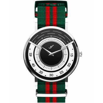 TRIFOGLIO ITALIA Radio City Green and Red Fabric Strap