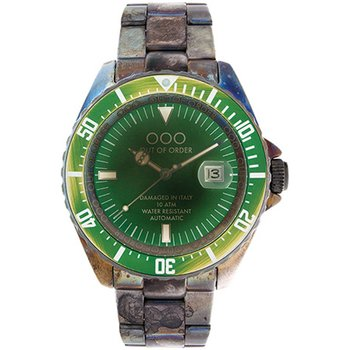 OUT OF ORDER Automatico Verde Stainless Steel Bracelet