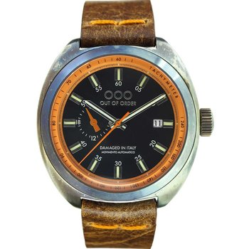 OUT OF ORDER Torpedine Automatic Brown Leather Strap