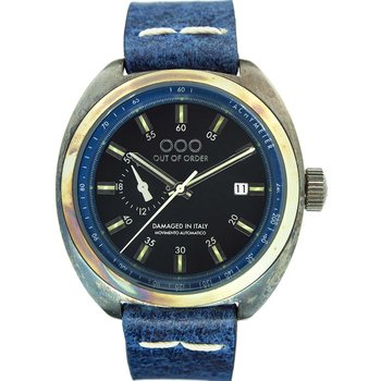 OUT OF ORDER Torpedine Blue Leather Strap