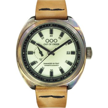 OUT OF ORDER Torpedine Brown Leather Strap
