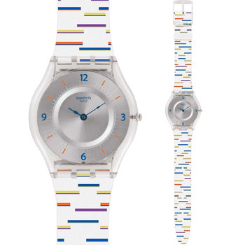 SWATCH THIN LINER White