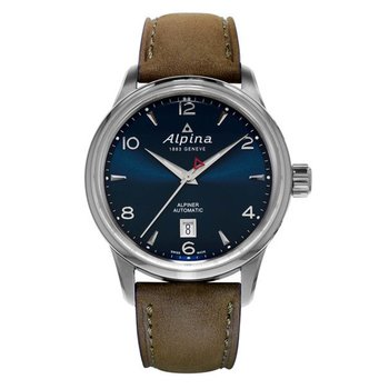 ALPINA Alpiner Automatic Brown Leather Strap