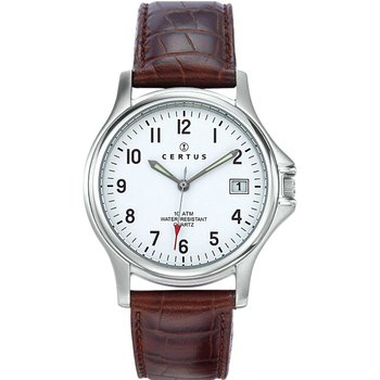 CERTUS Classic Mens Brown Leather Strap