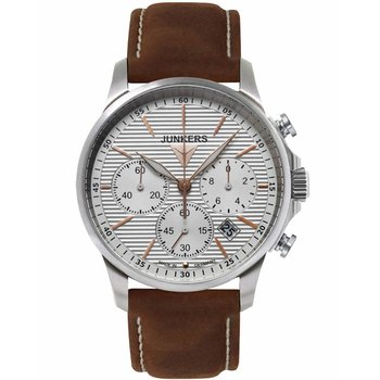 JUNKERS Tante Chrono Brown Leather Strap