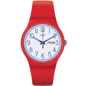 SWATCH Red Me Up Red Silicone