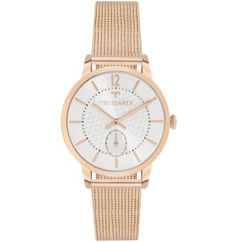 TRUSSARDI My Time Rose Gold Mesh Stainless Steel Bracelet