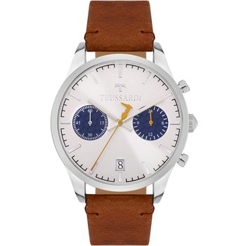 TRUSSARDI My Time Chronograph Brown Leather Strap