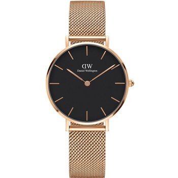 DANIEL WELLINGTON Petite Melrose Rose Gold Mesh Metallic Bracelet 32mm