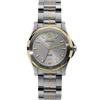 MICHEL HERBELIN Newport Trophy Two Tone Stainless Steel Bracelet