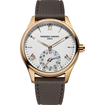 FREDERIQUE CONSTANT Horological Smartwatch Brown Leather Strap