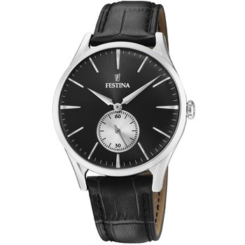 FESTINA Men's Black Leather