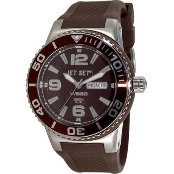 JET SET WB30 Brown Silicone Strap