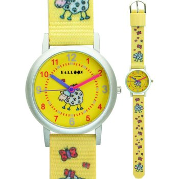 BALLOON Girls Yellow Fabric Strap