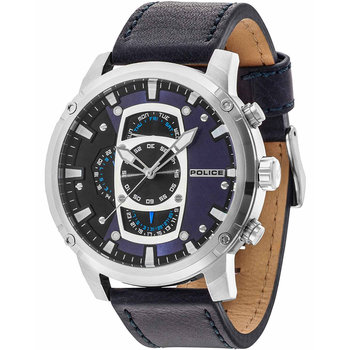 POLICE Jakarta Chronograph Blue Leather Strap